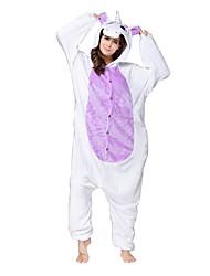kigurumi Pyjamas Unicorn Collant/Combinaison Fête / Célébration Pyjamas Animale Halloween Blanc Violet Animal Kigurumi Pour Unisexe