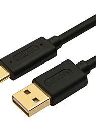 USB 2.0 Кабель, USB 2.0 to USB 3.1 Type C Кабель Male - Male 2.0m (6.5Ft) 10 Гб/сек.