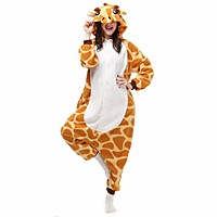 Unisex Flannel / Fleece Giraffe Pajamas