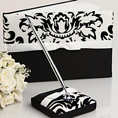 Guest Book Pen Set Satin Garden ThemeWithBow Sash