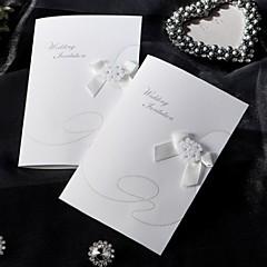 """לא מותאם אישית מקפלי צד הזמנות לחתונה לדוגמא הזמנה-1 יחידה / סט סגנון וינטג' / סגנון קלאסי / סגנון פרחוני כרטיס נייר6 ½""""×4 ½"""""""