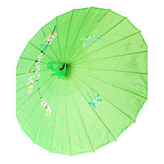 """Seda Fãs e guarda-sóis Piece / Set Para-Sois Tema  Jardim Tema  Asiático Verde 19""""high x 32 1/3""""em diâmetro(48cm high×82cm em diâmetro)"""