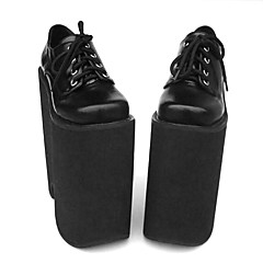 Lolita Shoes Punk Lolita Lolita High Heel Shoes Solid 22 CM Black For Women PU Leather/Polyurethane Leather