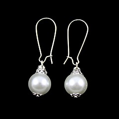 Fabulous Imitation Pearls With Alloy Plated Wedding Bridal Earrings