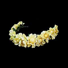 נשים נערת פרחים נייר כיסוי ראש-חתונה אירוע מיוחד סרטי ראש פרחים