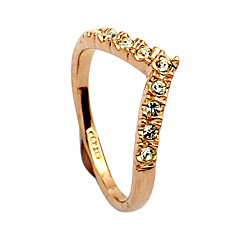 Ring Women's Crystal Alloy Alloy One Size GoldColor & Style representation may vary by monitor. Not responsible for typographical or
