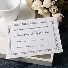 """מותאם אישית כרטיס שטוח הזמנות לחתונה כרטיסי מענה-50 יחידה / סט סגנון פורמלי נייר פנינה 3 ½"""" x 5""""(9ס""""מ*12.5ס""""מ)"""