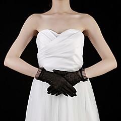 Polslengte Vingertoppen Handschoen Kant Bruidshandschoenen Feest/uitgaanshandschoenen Lente Zomer Herfst