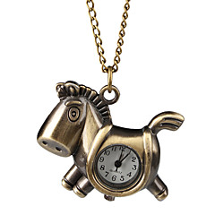 Pretty Alloy Horse Necklace Watch