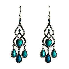 Vintage Droplight Shaped Turquoise Earrings