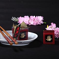 아시안 테마 촛불 부탁 조각 / 세트 캔들 비 개인화 레드