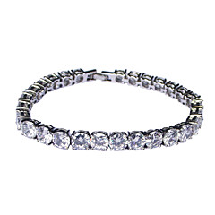 Stylish Alloy Plating Platinum With Crystal/Cubic Zirconia Women's Bracelet