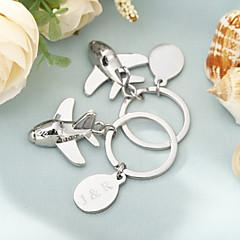 סגסוגת אבץ מצדדים במחזיק מפתחות-4 חתיכה / סט מחזיקי מפתחות נושא וגאס מותאם אישית כסף