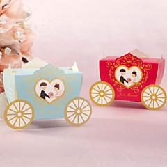 12 조각 / 설정에 찬성 홀더 - 귀여운 마차 모양의 창조적 카드 종이 호의 상자