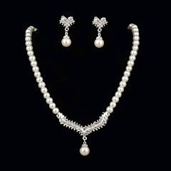 Jewelry Set Women's Anniversary / Engagement / Birthday / Gift / Party Jewelry Sets Pearl Rhinestone Earrings / Necklaces White