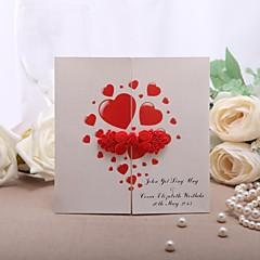 """מותאם אישית מתקפל בצורת שער הזמנות לחתונה כרטיסי הזמנה-50 יחידה / סט סגנון פורמלי נייר פנינה 5 1/3""""×5 1/3"""" (13.2*13.2ס""""מ)"""