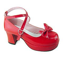 Schoenen Schattig Met de Hand Gemaakt Hoge Hak Schoenen Effen 8 CM Voor PU-leer/Polyurethaan Leer Polyurethaan leer