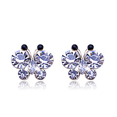 Korean Fashion Studded With Drill  Delicacy Butterfly Alloy Stud Earrings