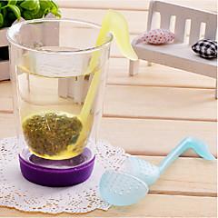 fonetische symbool vormige theebladeren zeef filter (willekeurige kleur)