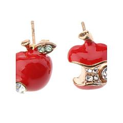 スタッドピアス 模造ダイヤモンド かわいいスタイル 模造ダイヤモンド 合金 りんご レッド グリーン ジュエリー のために 日常