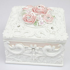 Beautiful Garden Style Square-shaped Jewelry Box