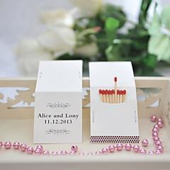 Karton Bryllup Dekorationer-25Stykke/Sæt Personliggjort Tændstikker er ikke inkluderet