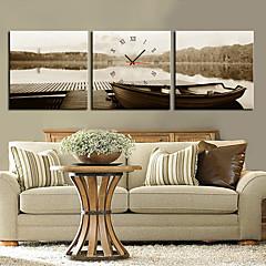 moderne stil grå væg ur i canvas 3stk