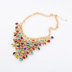 Gorgeous Multi-Color-Strass Damen Halskette