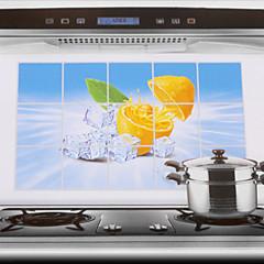 75x45cm Lemon Oil Pattern-Proof Water-Proof Küche Wandaufkleber