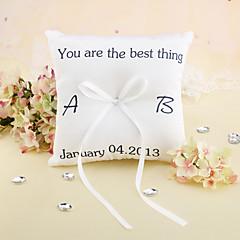 """Personlig """"Du er den bedste"""" Wedding Ring Pillow"""