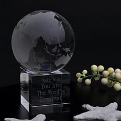 Gifts Bridesmaid Gift Personalized Globe Crystal Table Display Keepsake