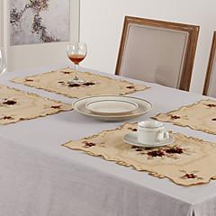 Set von 6 Tischsets Floral Polyester