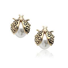 Delicate Ladybug Design Alloy 18K Gold Plated Women's Earrings