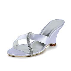 Women's Wedding Shoes Slide Sandals Wedding Blue/Purple/Red/Ivory/White/Gold