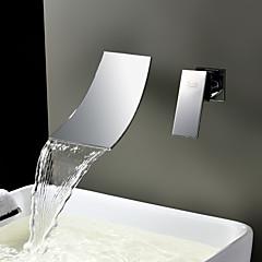 Sprinkle® Badarmaturen  ,  Moderne  with  Edelstahl Ein Griff Zwei Löcher  ,  Feature  for Wasserfall / Verbreitete / Wand