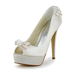 Bruiloft Schoenen - Zwart / Blauw / Roze / Paars / Rood / Ivoor / Wit / Zilver / Goud / Champagne - Huwelijk -Hoge hakken / Open neus /