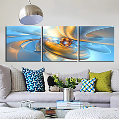 Leinwand Kunst Abstrakt Fantasie Ball of 3 Stellen