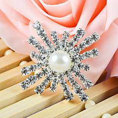 decoración de la boda de accesorios ornamentales con perla en el centro