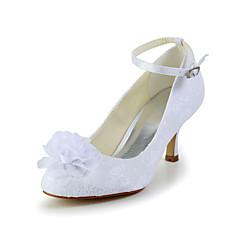 Damen Hochzeitsschuhe Absätze/Wedges High Heels Hochzeit Elfenbein/Weiß