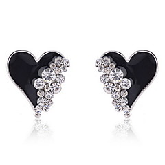 모조 다이아몬드 귀걸이와 에나멜 하트 (다른 색)