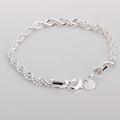 Twisted Alloy Silver Plated kvinnors armband