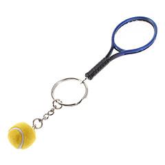 Schlüsselanhänger Baseball Klassisch & Zeitlos Schlüsselanhänger Blau / Gelb Plastik