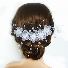 Women's / Flower Girl's Satin / Imitation Pearl / Acrylic Headpiece-Wedding / Special Occasion Flowers