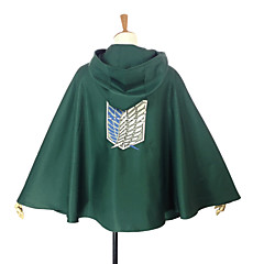 Inspired by Attack on Titan Levy Anime Cosplay Costumes Cosplay Tops/Bottoms Patchwork Green Cloak