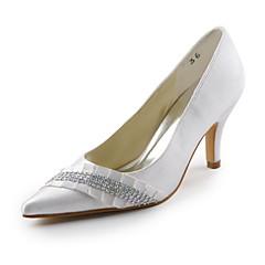 Women's Spring / Summer / Fall Heels Satin / Stretch Satin Wedding / Party & Evening Stiletto Heel RhinestoneBlack / Blue / Pink / Purple