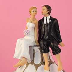 Classic Kissing Couple Wedding Cake Topper