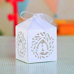 12 Piece/Set Favor Holder - Cubic Pearl Paper Favor Boxes Non-personalised