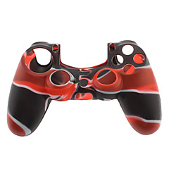 Pele de silicone para PS4 Controller (Black & Red)