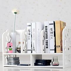 Moderne White Water Cube Mønster Desktop Book Shelf