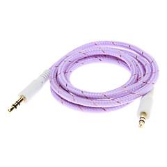 Weave Line Audio Jack Connection Cable(Purple 1.0m)